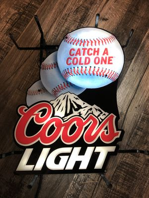 Coors Light beer baseball motion neon for Sale in Montclair, CA