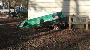 10 ft John boat w/trailer for Sale in Stockbridge, GA