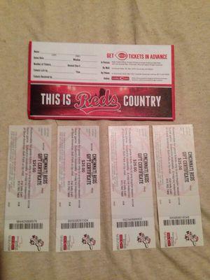 4 Cincinnati Reds gift certificates for Sale in Mason, WV