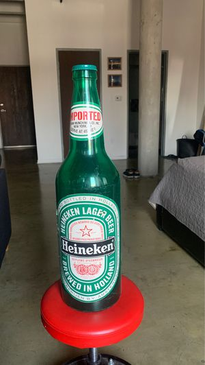 Giant oversized antique Heineken bottle plastic for Sale in Los Angeles, CA