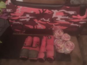 Used, Horse tack - pink camo bundle for Sale for sale  Waukesha, WI