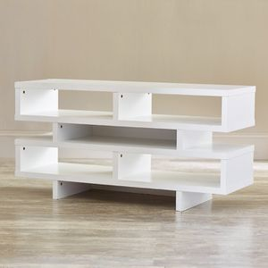 Modern White TV Stand with Open Shelves for Sale in New York, NY