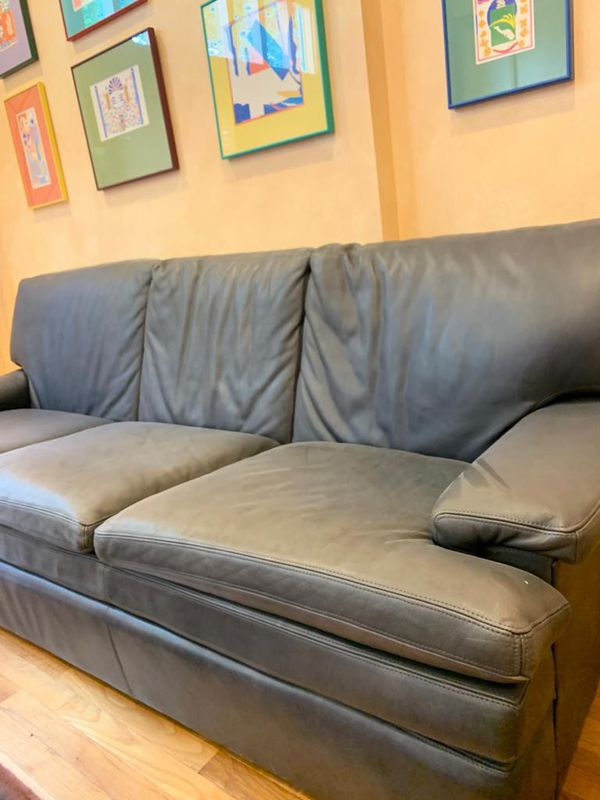 Comfortable leather sofa couch