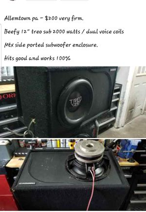 """12"""" treo sub in ported box for Sale in Allentown, PA"""