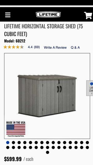 BRAND NEW LIFETIME HORIZONTAL STORAGE SHED for Sale in Ontario, CA