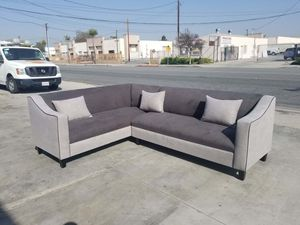 NEW 7X9FT CHARCOAL MICROFIBER COMBO SECTIONAL COUCHES for Sale in Pomona, CA