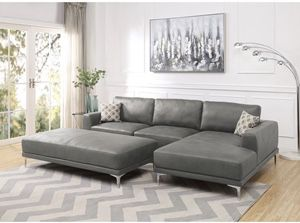 Sectional antique gray - on stock only 2 pieces for Sale in Fort Lauderdale, FL