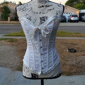 White brocade corset for Sale in Buena Park, CA
