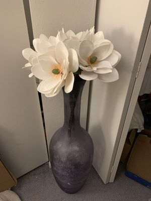 Translucent purple floor vase for Sale in Olmsted Falls, OH