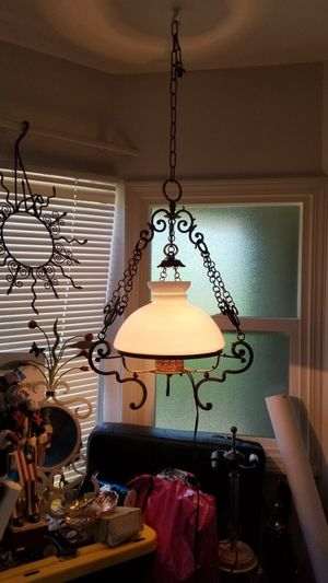 VINTAGE ITALIAN WROUGHT IRON HANGING LAMP for Sale in Hayward, CA