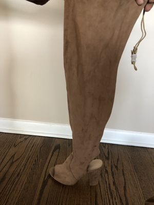 Beige thigh high heel boots sz11 for Sale in Chicago Heights, IL