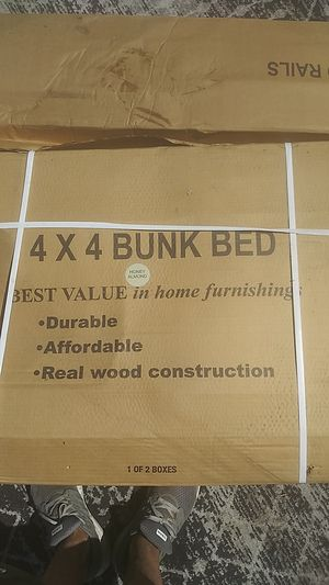 Honey almond bunk bed (wood) for Sale in Eagle Mountain, UT