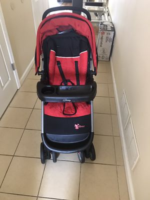 Well used Mickey Mouse stroller and car seat set! for Sale in Trenton, NJ