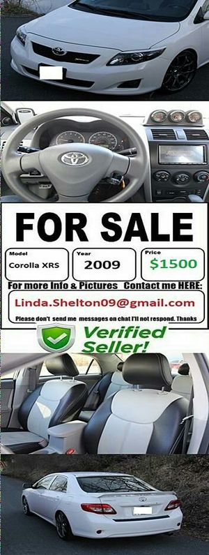 My contact is in pics my chat app is not working:2009 Toyota Corolla XRS*Cleantitle/fullyloaded for Sale in Columbus, OH