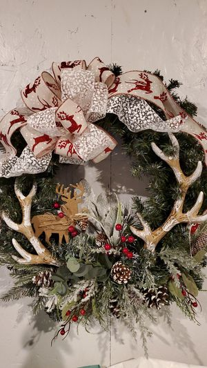 "Dear and Antler Wreath New Made at Curtis Country Store 24"" for Sale in Graham, WA"