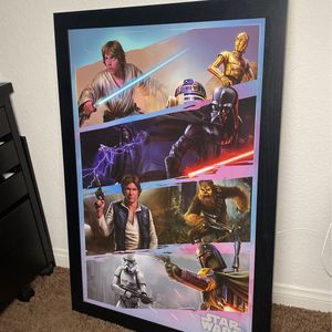 STAR WARS PICTURE FRAME for Sale in Bellflower, CA