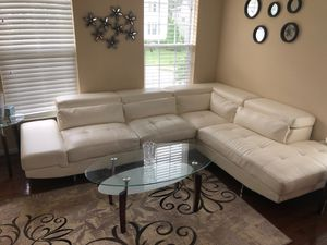Leatherette modern sectional for Sale in Ashburn, VA