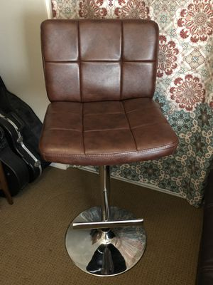 Faux leather adjustable height bar stool for Sale in Rancho Cucamonga, CA