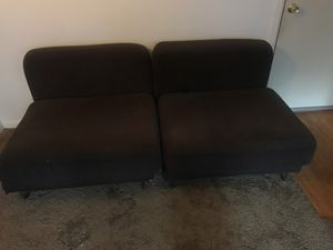 Modern two piece sofa chrome legs for Sale in Wheat Ridge, CO