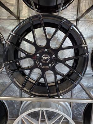 19x8.5 5x112 Ground force GF07 gloss black fits Audi vw Volkswagen mercedes golf Jetta gti wheel rim tire shop for Sale in Tempe, AZ