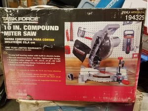 "Task Force 10"" compound miter saw for Sale in Marysville, WA"