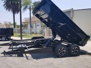 8-1/2 x 12 x 2 Heavy Duty Dump Trailer 14k GVWR for Sale in Anaheim, CA