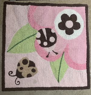 Pink Ladybug rug/growth chart/plushies for Sale in Clovis, CA