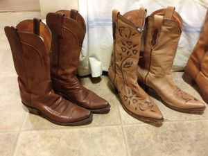 Dan post and lucchese leather boots for Sale in Greenwood, SC