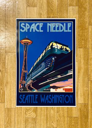 """Seattle Space Needle Poster - 13"""" X 19"""" - Mint Condition for Sale in Burien, WA"""