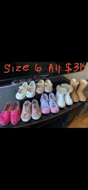 Baby girl toddler size 6 6T shoes flats boots $30 for Sale in Vallejo, CA