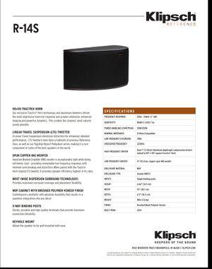 Klipsch R-14S Surround Pair Black for Sale in San Diego, CA