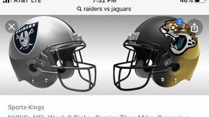 Raiders vs Jaguars for Sale in Fresno, CA