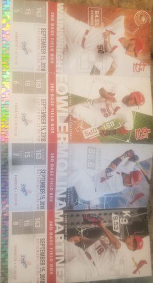 Cards tickets for Sale in Florissant, MO