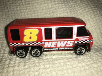 Hot Wheels 2011 GMC Motorhome Red Channel 8 News Trackside Coverage Van Thailand for Sale in Atlanta,  GA