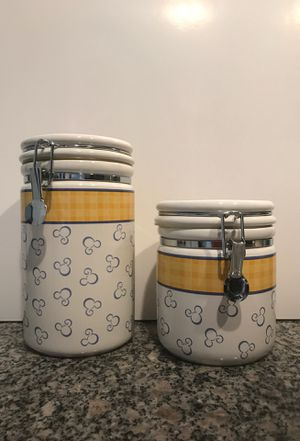 Vintage Disney Kitchen Stoneware Containers Storage Jars for Sale in Denver, CO