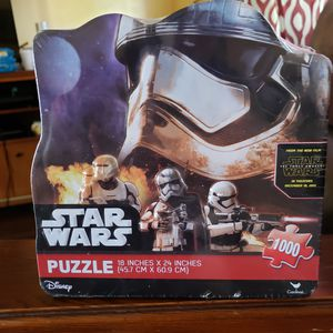 Star Wars Puzzles Disney's Star Wars Puzzle Box Games and Toys Star Wars MAKE AN OFFER!! for Sale in Muscoy, CA