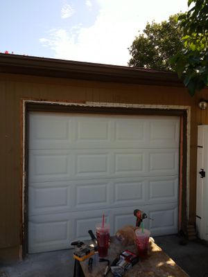 8 foot Garage Door with remote and lift motor for Sale in Seminole, FL