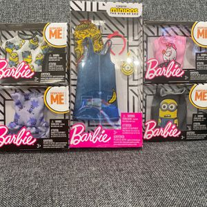 Minions Brand New Barbie Clothes In Boxes for Sale in Pompano Beach, FL