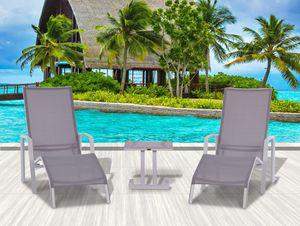 Easy 3 Piece Chaise Lounge Set - Crema for Sale in Miami, FL