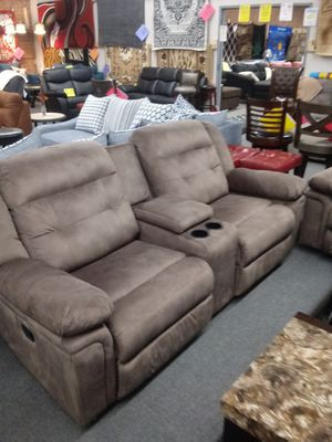 Double recliner sofa and loveseat for Sale in Greensboro, NC