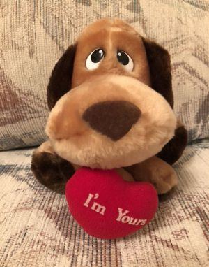 Brand New Dog Stuffed Animal With I'm Yours Heart Hanging From Its Mouth, Valentine's Day Plush for Sale in Boca Raton, FL