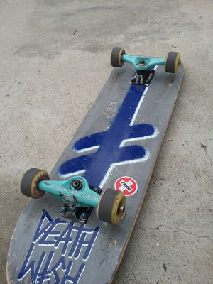 Death Wish skate board complete for Sale in West Covina, CA