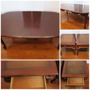 Elegant Coffee Table and Wood End Tables! for Sale in Chesterfield, VA