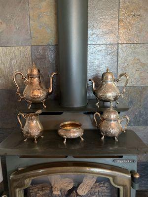 Antique Georgian Court Silver tea set for Sale in Huson, MT