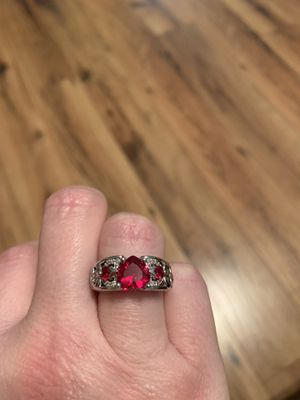 Lab ruby. Sterling silver. Size 7. New. for Sale in Princeton, WV