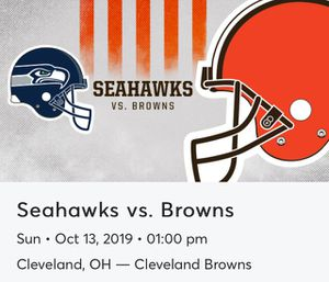 Browns v Seahawks 2 Lower Dawg Pound Tickets (121/19/13-14) for Sale in Broadview Heights, OH