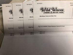4 adult tickets to fright fest for Sale in Tacoma, WA