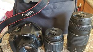 Canon EOS rebel T6 (w/bag, charger, battery, lens: 18-55mm & 75-300mm) for Sale in Hayward, CA