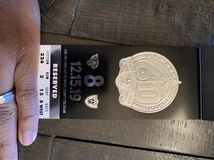 Raiders vs Jaguars section 226 row 3 seat 16 only for Sale in Oakland, CA
