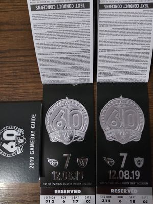 Oakland Raiders Tickets for Sale in Vallejo, CA